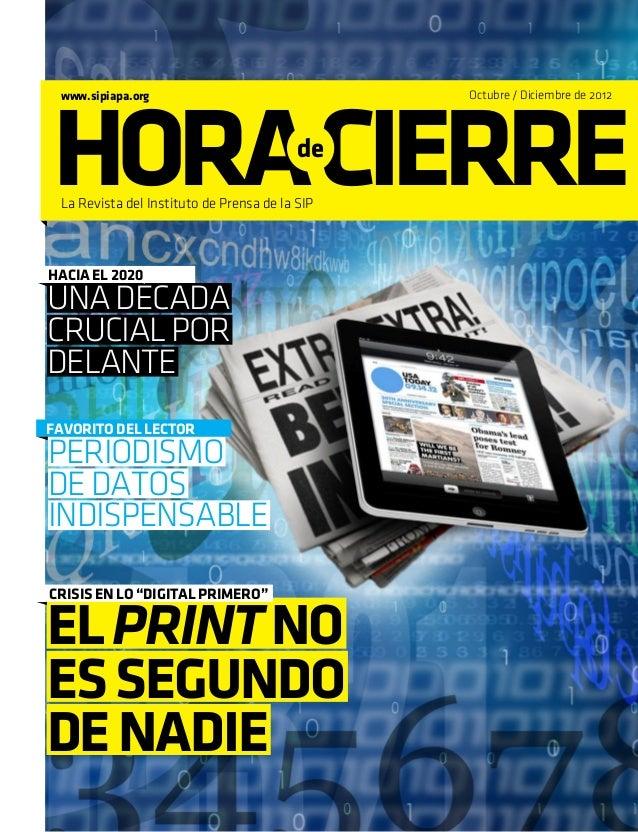 HORA CIERRE www.sipiapa.org                                Octubre / Diciembre de 2012                                    ...