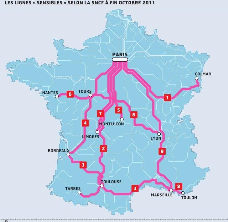 """Horaires SNCF : les lignes """"sensibles"""""""