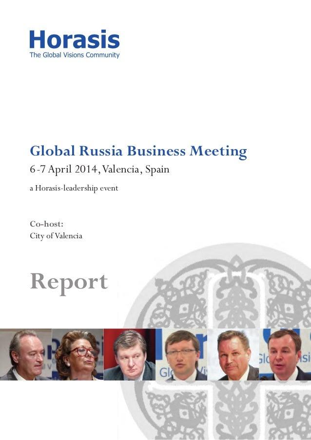 Horasis Global Russia Business Meeting 2014 | Report