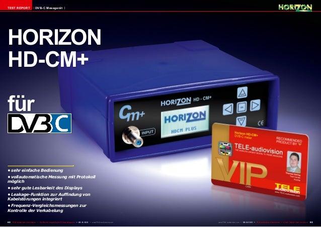 62 63TELE-audiovision International — The World's Largest Digital TV Trade Magazine — 09-10/2013 — www.TELE-audiovision.co...
