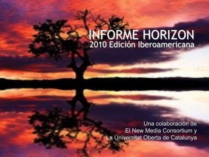NMC Horizon Report > 2010 Edición Iberoamericana Exposición de Diapositiva