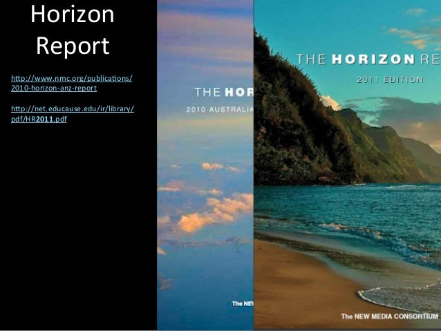 Horizon report 2011 summarised