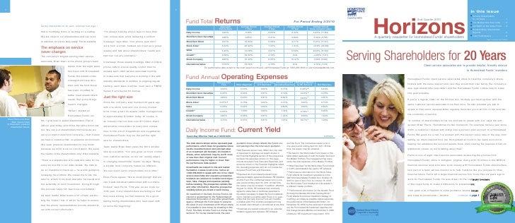 Horizons 2nd Quarter 2010 Newsletter