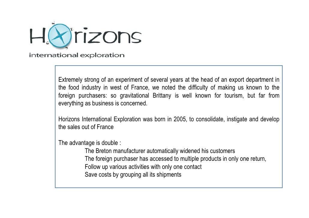 Horizons International Exploration Portfolio 2010