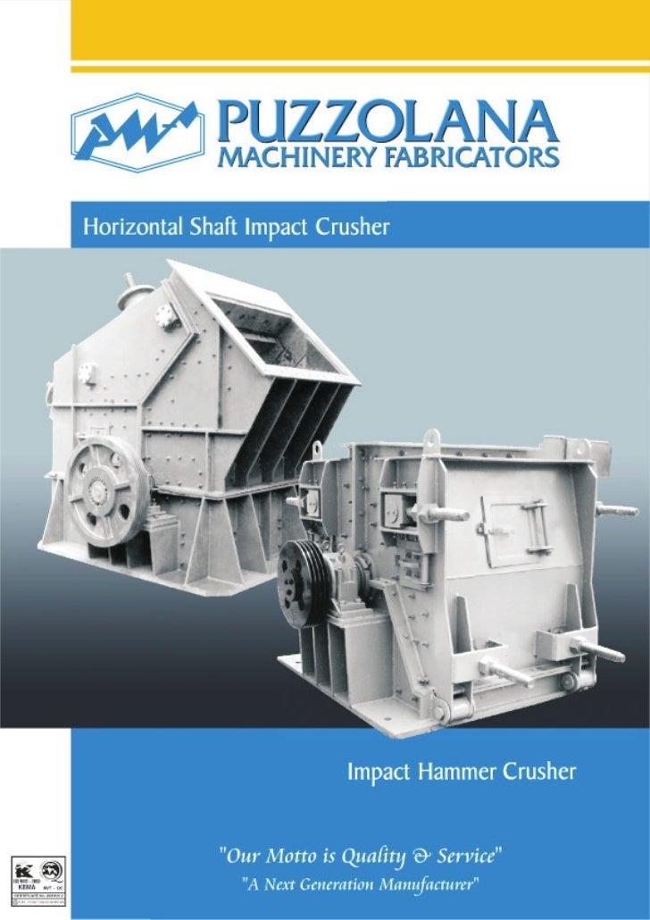 Horizontal shaft impactor crusher and hammer crusher