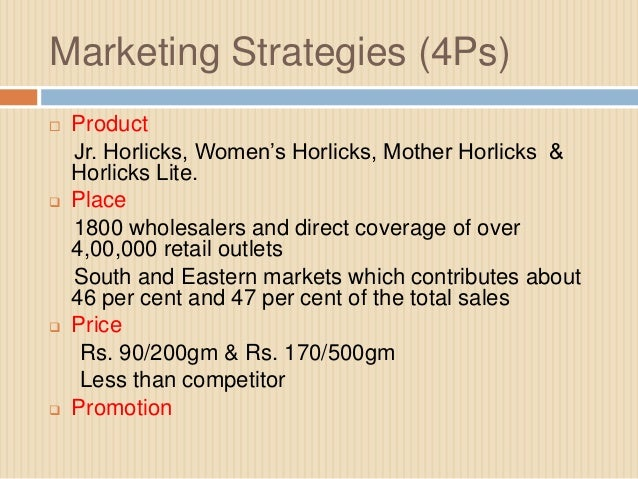 pricing strategy of horlicks
