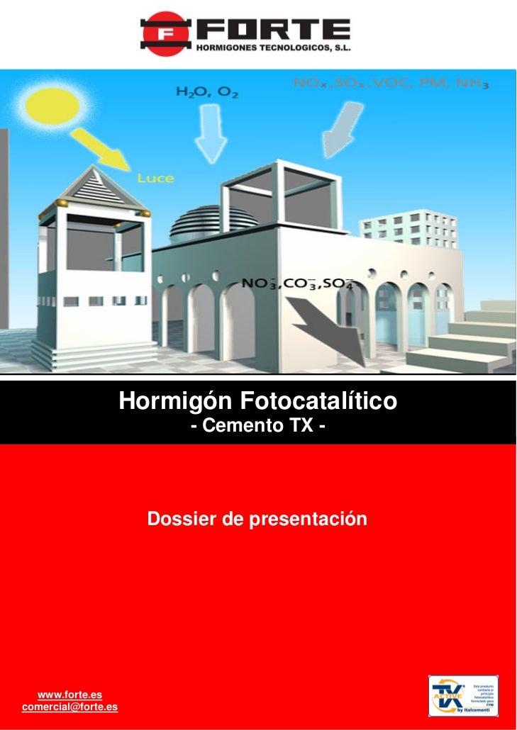 Hormigón Fotocatalitico FORTE