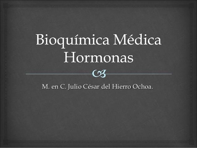 M. en C. Julio César del Hierro Ochoa.
