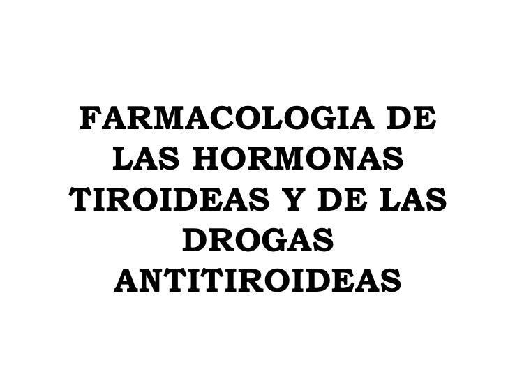 Teorico de Hormonas Tiroideas