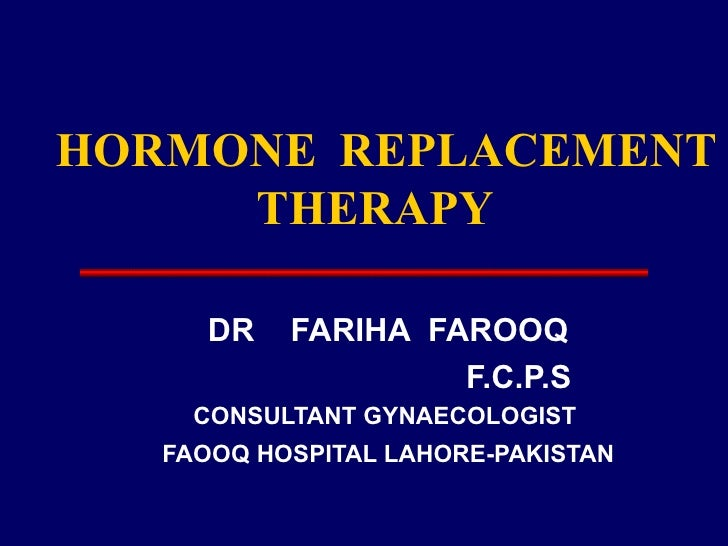 HORMONE REPLACEMENT THERAPY 2
