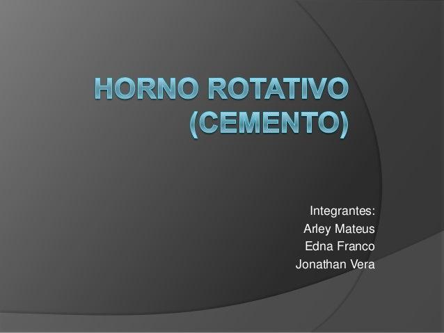 Horno rotativo ( cemento)