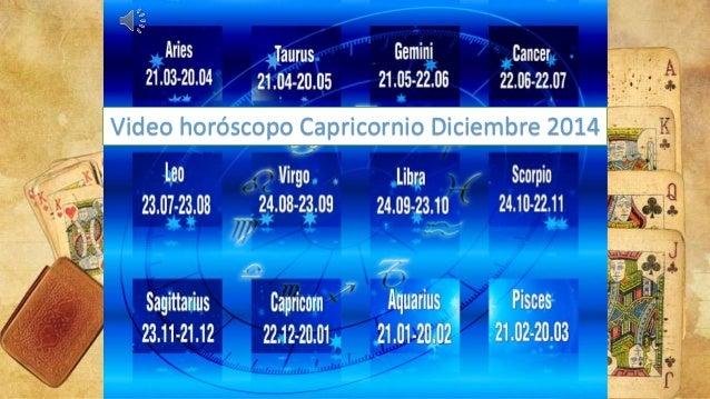 Video horóscopo Capricornio Diciembre 2014