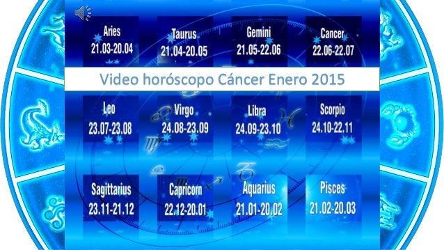Video horóscopo Cáncer Enero 2015