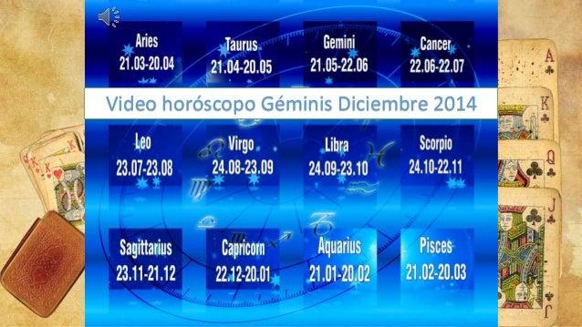 Video horóscopo Géminis Diciembre 2014