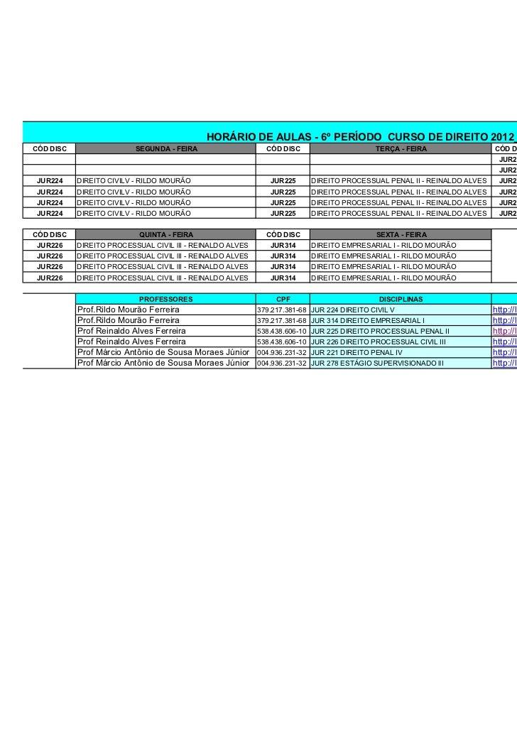 Horário direito 2012 01 revisado