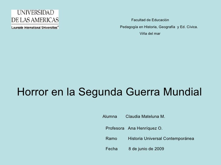 Facultad de Educación                          Pedagogía en Historia, Geografía y Ed. Cívica.                             ...