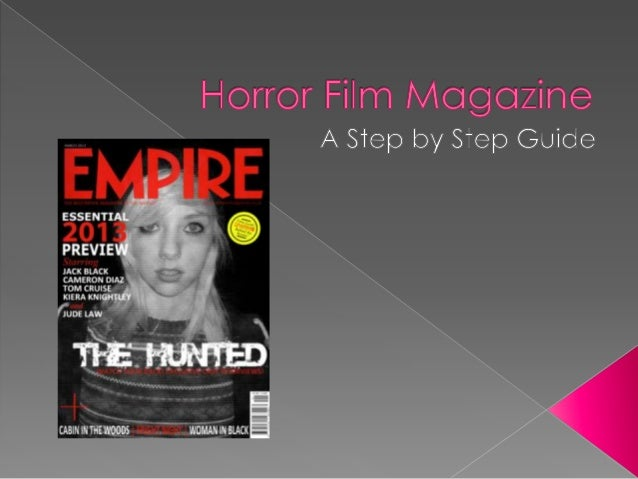 Horror film magazine step by step