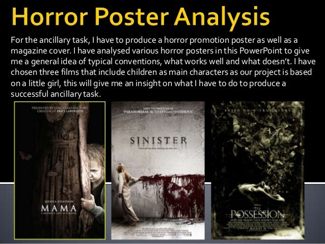 For the ancillary task, I have to produce a horror promotion poster as well as amagazine cover. I have analysed various ho...
