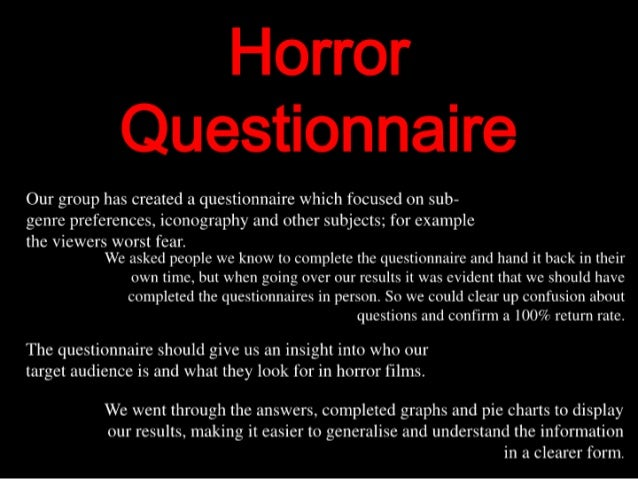 Horror questionnaire