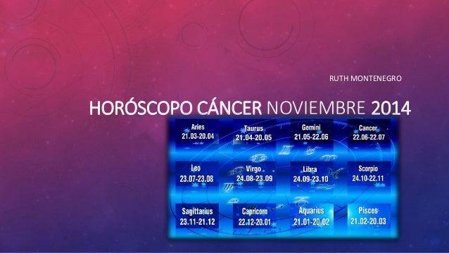 Cancer - Horóscopo Noviembre
