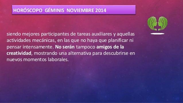Geminis - Horóscopo Noviembre forecasting