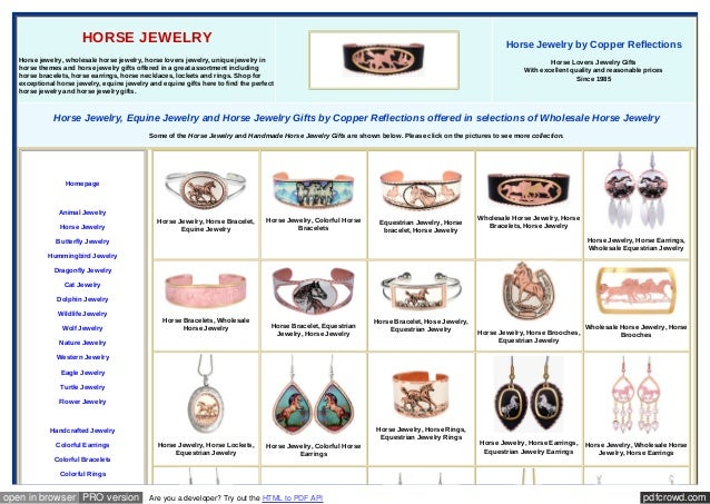 pdfcrowd.comopen in browser PRO version Are you a developer? Try out the HTML to PDF API HORSE JEWELRY Horse jewelry, whol...