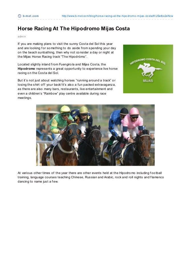 Hipodromo Horse Racing Track Mijas Costa del Sol