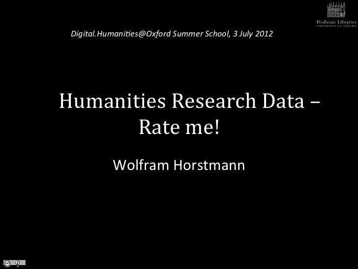 Horstmann humanities research_data