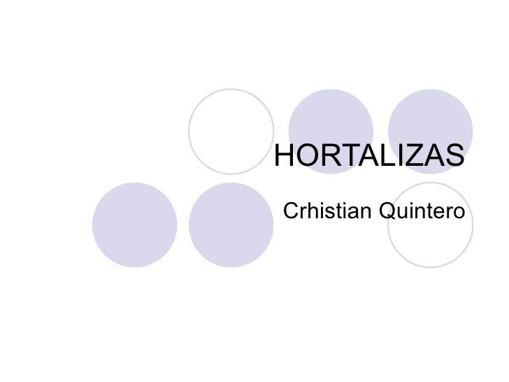 HORTALIZAS Crhistian Quintero