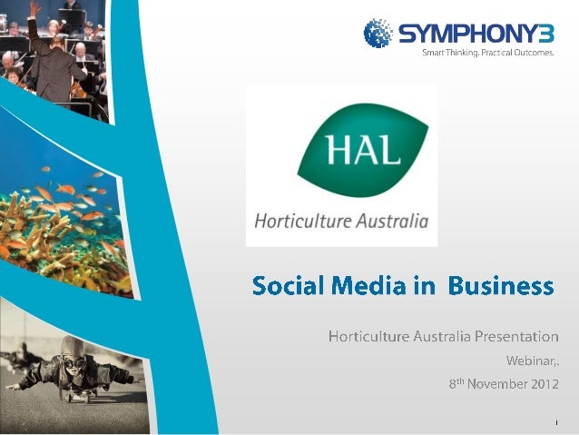 Social Media and the horticulture industry