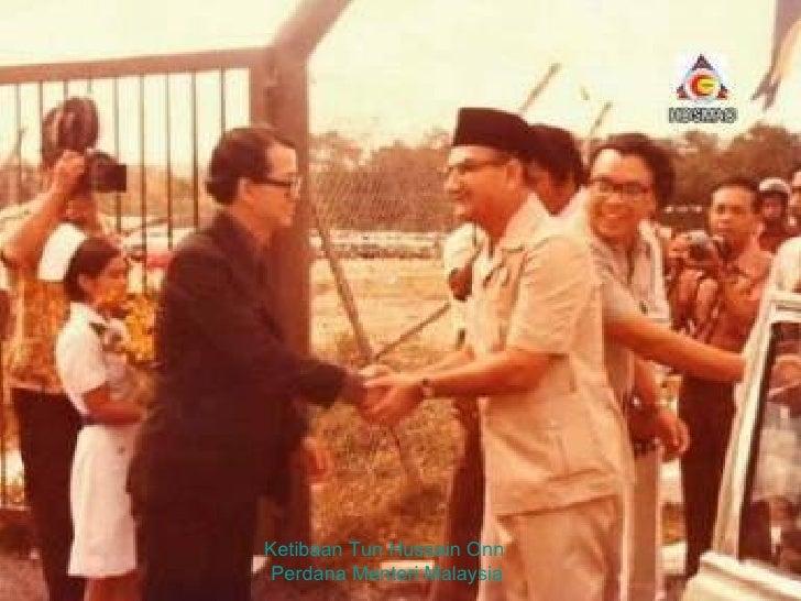 Ketibaan Tun Hussain Onn  Perdana Menteri Malaysia