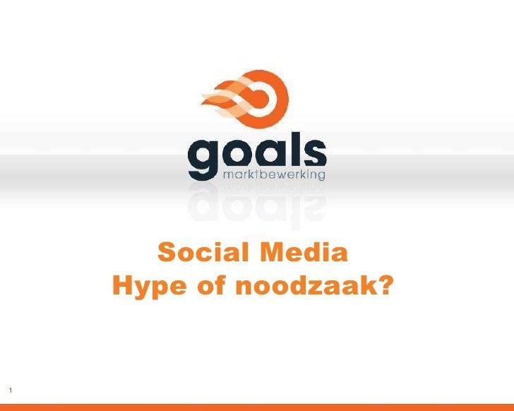 Goals Social Media 2010