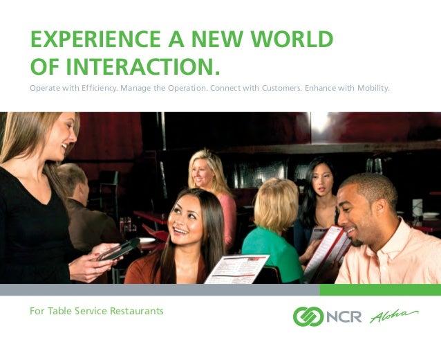 NCR Aloha Solutions for restaurants