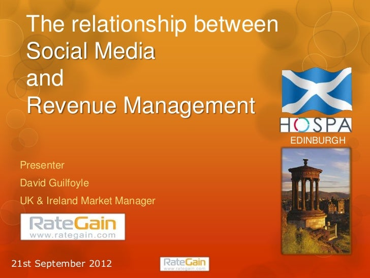 The Relationship between social media and revenue management