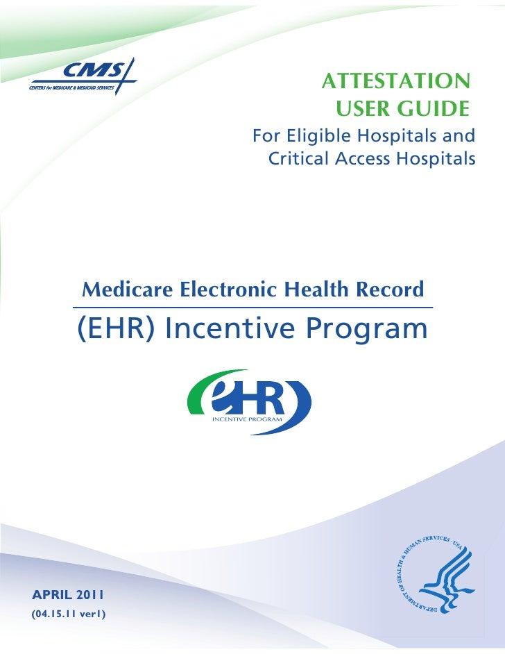 Hospital Attestation User Guide