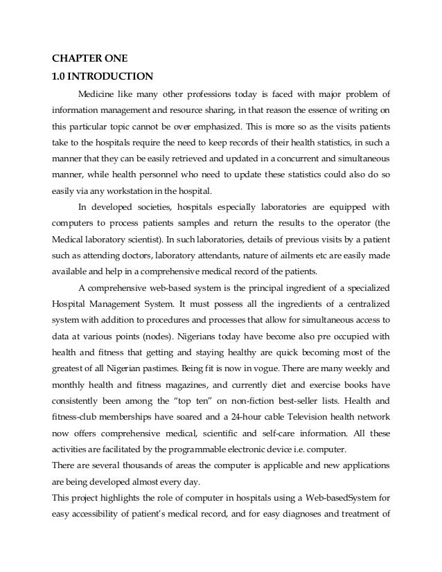 Hospital management system essay