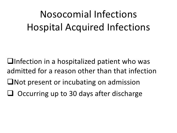 thesis on nosocomial infections Name of the bachelor's thesis infection control in hospitals abstract the terrible statistics about hospital-acquired infections point out the necessity of improving.