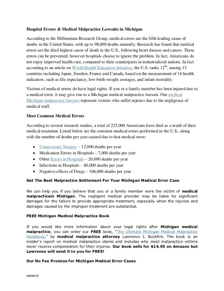 Hospital Errors & Medical Malpractice Lawsuits in Michigan