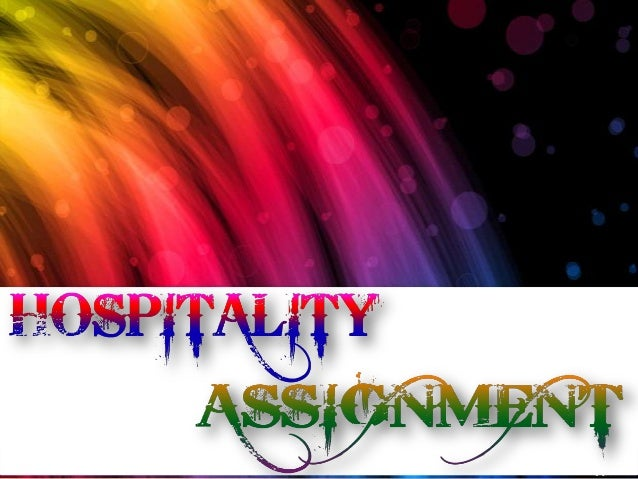 Hospitality assignment