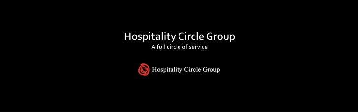 Hospitality Circle Group; A Full Circle Of Service