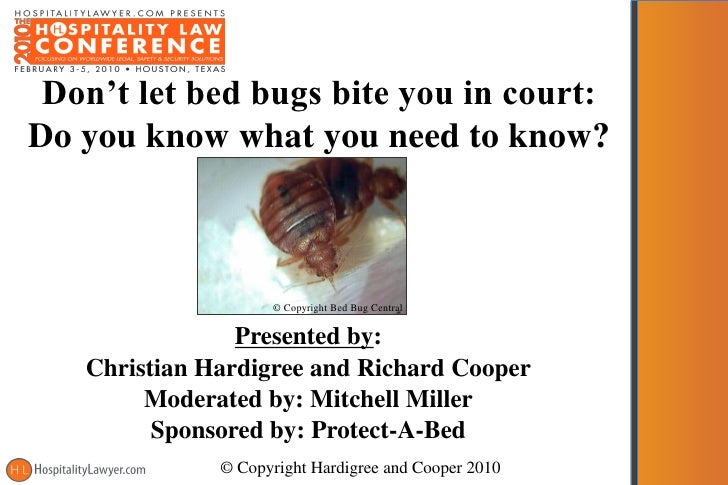 Hospitality law conference 2010 don t let bed bugs bite you in cour - What you need to know about jacquard bedding ...