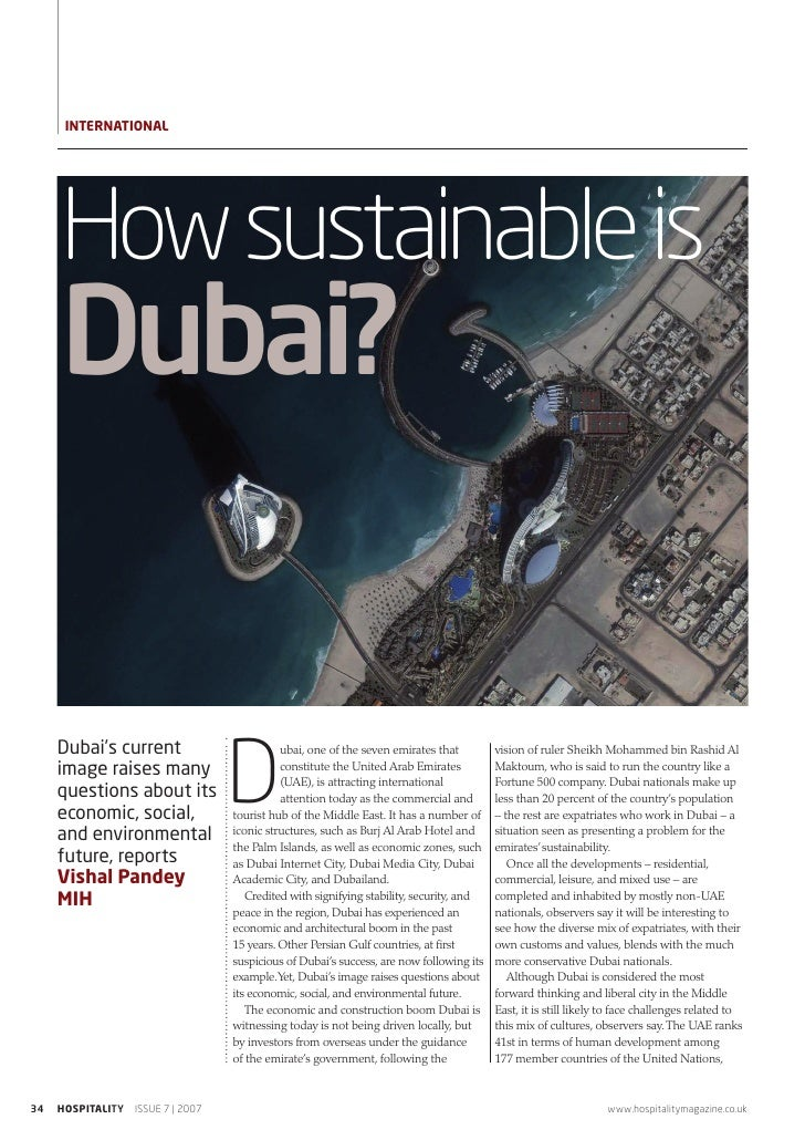 InTernATIOnAL     How sustainable is     Dubai?                                  D     Dubai's current                    ...