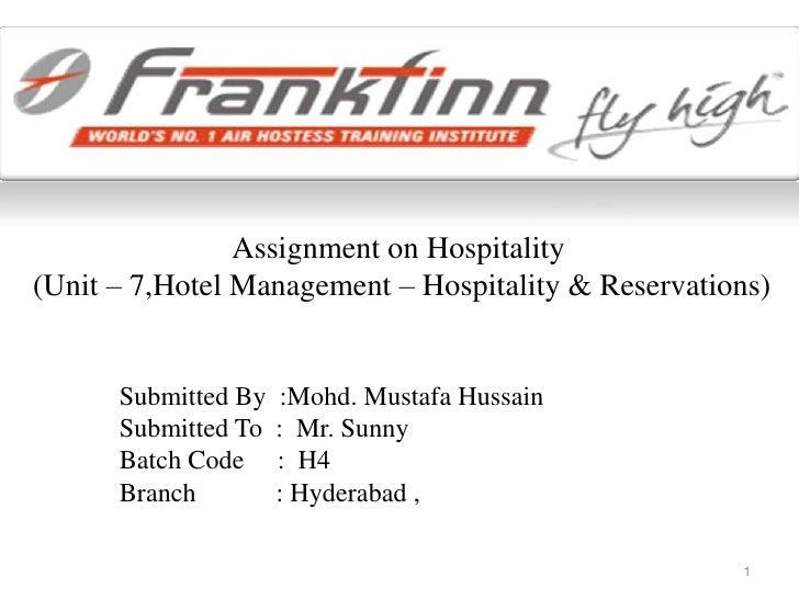 Hospitality presentation