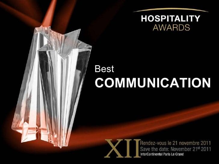 Hospitality schools awards best communication istudent