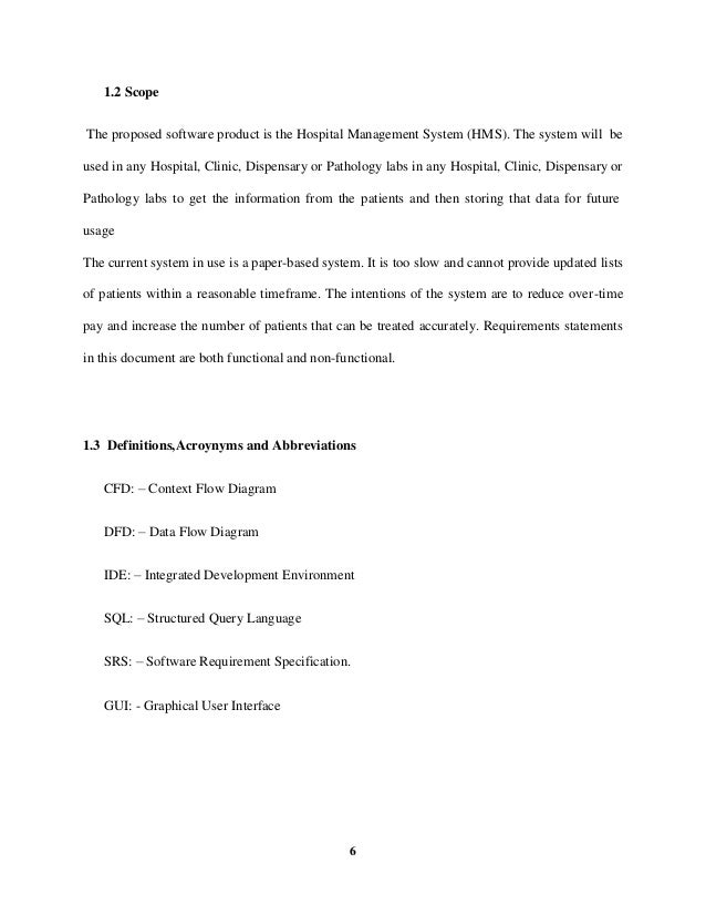Hospital management system project thesis