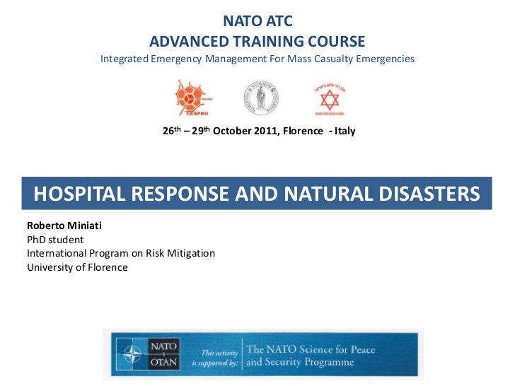 Hospital response to natural disasters