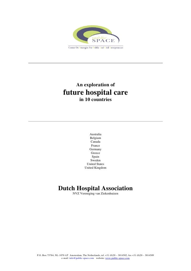 An exploration of                       future hospital care                                     in 10 countries          ...