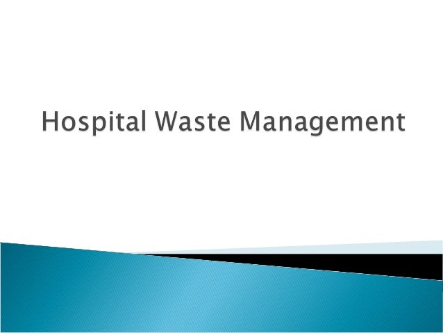 Hospital waste management Real time Analysis