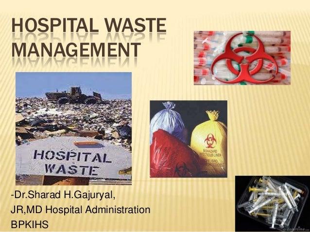 Dissertation on hospital waste management
