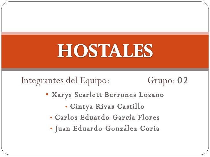 <ul><li>Integrantes del Equipo: Grupo:  02 </li></ul><ul><li>Xarys Scarlett Berrones Lozano </li></ul><ul><li>Cintya Rivas...